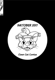Inktober 2017 - Clown Cat Comic
