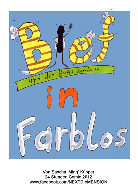 Bief in Farblos 24h Comic 2012